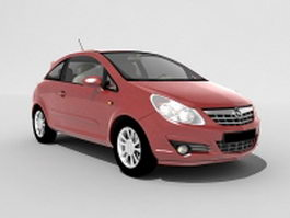 Opel Corsa mini car 3d model