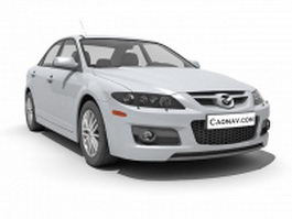 Mazda6 mid-size car 3d model