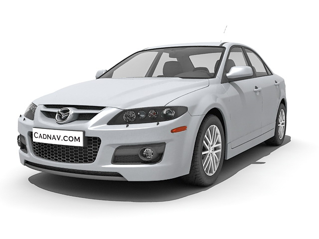 Mazda6 mid-size car 3d model