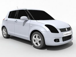 Suzuki Swift subcompact car 3d model