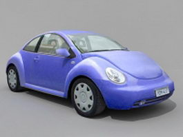 Volkswagen Beetle Type 14 3d model