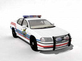 White police car 3d preview