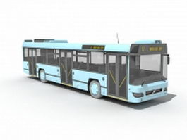 Public transit bus 3d model