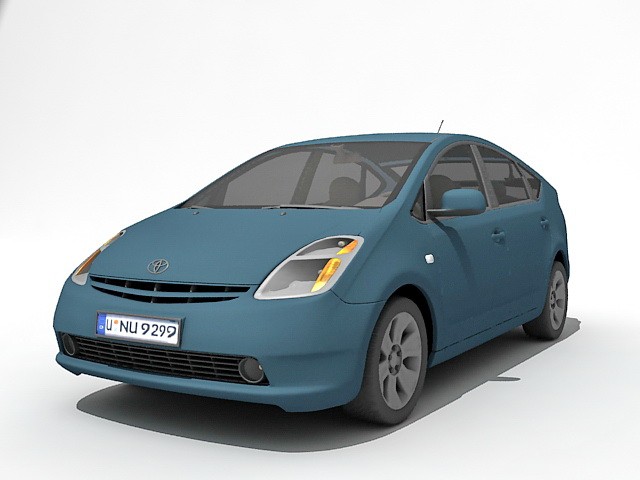 toyota prius hybrid electric car 3d model 3ds max files free download modeling 33879 on cadnav. Black Bedroom Furniture Sets. Home Design Ideas