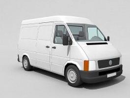 White cargo van 3d model