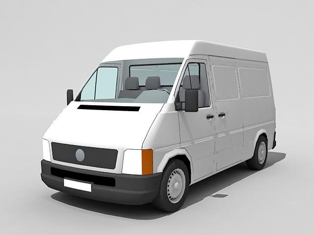 White Cargo Van 3d Model 3ds Max Files Free Download