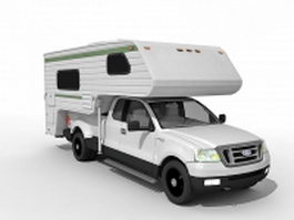 Ford based camper 3d model