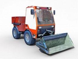 Front loader and excavator 3d model