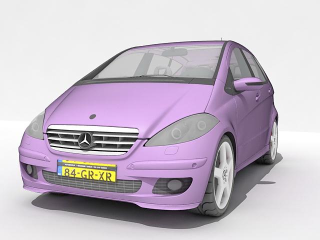Mercedes benz a class hatchback 3d model 3ds max files for Mercedes benz hatchback models