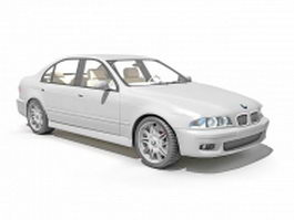 BMW 5 Series luxury car 3d model