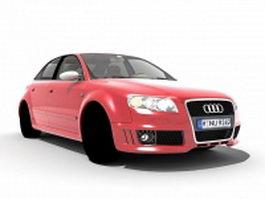 Red Audi S4 executive car 3d model
