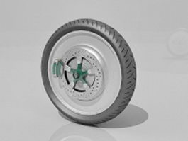 Alloy wheel for car 3d model