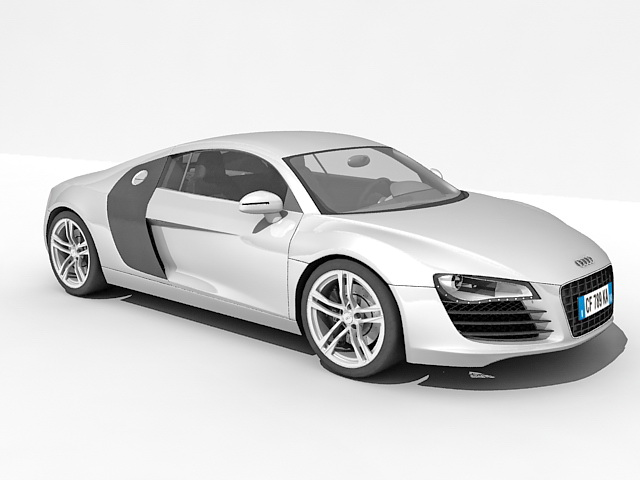 Audi R Car D Model Ds Max Files Free Download Modeling - Audi car 3d image
