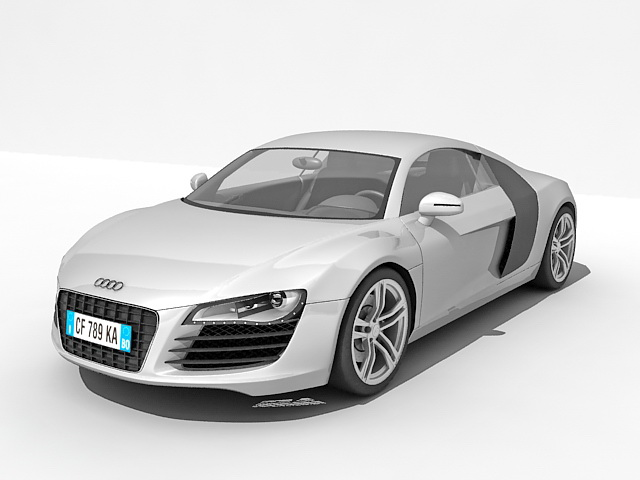 Audi R Car D Model Ds Max Files Free Download Modeling - Audi car 3d