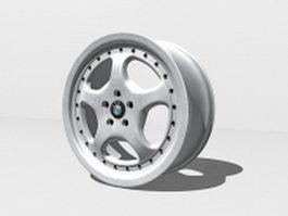 BMW car rim 3d model