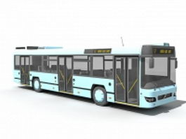Modern transit bus 3d model