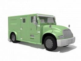 Armored Cash Transport Truck 3d model