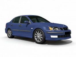Saab sedan car 3d model