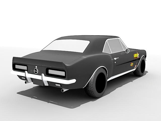 Chevrolet Camaro Muscle Car 3d Model 3ds Max Files Free Download