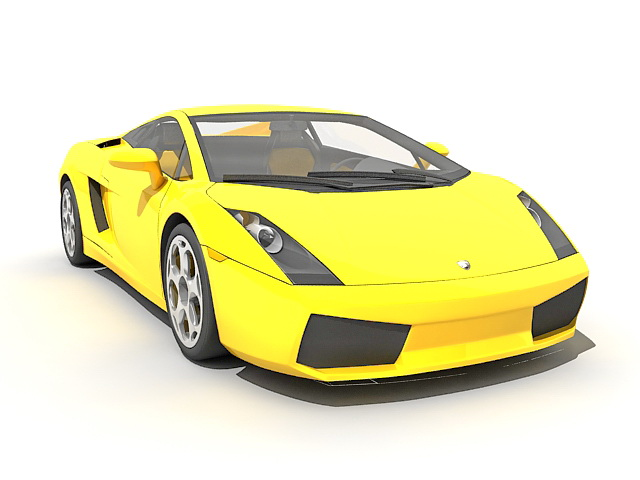 Lamborghini Gallardo Sports Car 3d Model 3ds Max Files