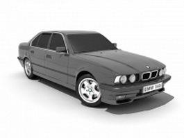 BMW 540i sedan 3d model
