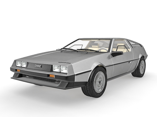 Delorean Dmc 12 3d Model 3ds Max Files Free Download Modeling