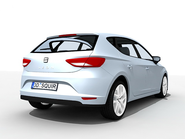Seat Leon Car 3d Model 3ds Max Files Free Download