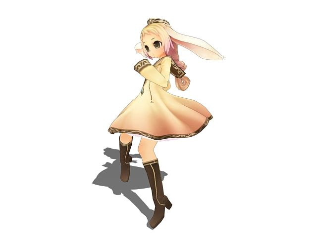 3D Model Of Cute Anime Elf Girl Character Design Available 3d File Format Max Autodesk 3ds Texture Jpg Free Download This Objects And