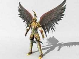 Angel warrior fantasy 3d model