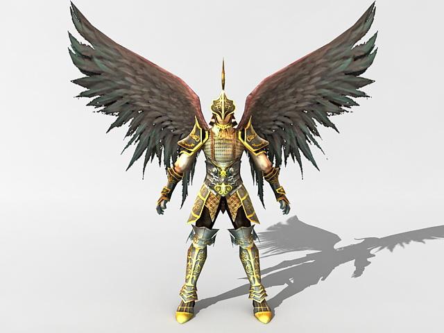 angel warrior fantasy 3d model 3ds max files free download