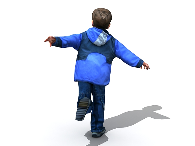 little boy running 3d model 3ds max files free download