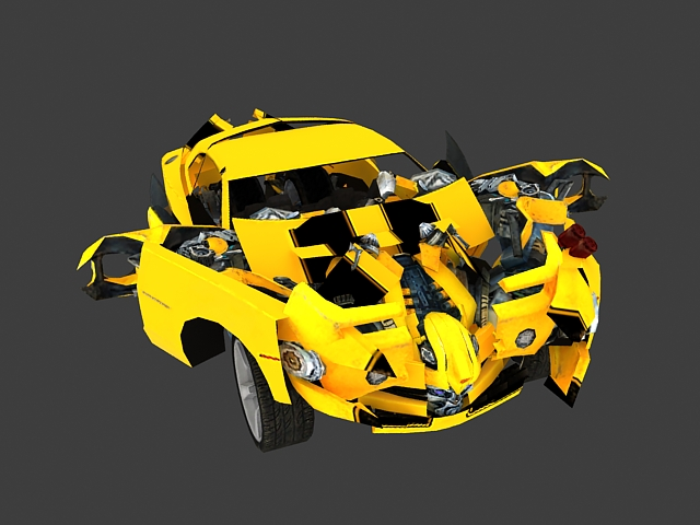 Transformers Bumblebee Animated 3d Model 3ds Max Files