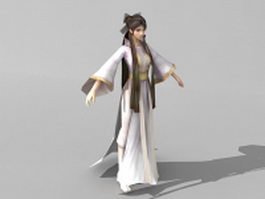 Ancient Chinese girl 3d model