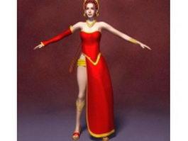 Fantasy princess 3d model