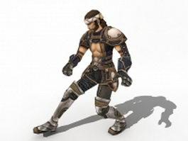 Ancient Korean warrior 3d model