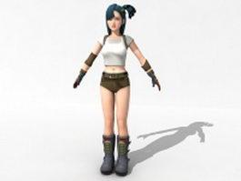 Spy girl 3d model