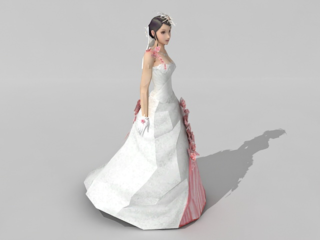 Fairy Bride Girl 3d Model 3ds Max Files Free Download