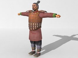 Qin dynasty soldier 3d model