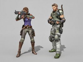 SWAT team officers 3d model