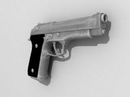 Beretta M9 pistol 3d model