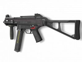 Heckler & Koch submachine gun 3d model