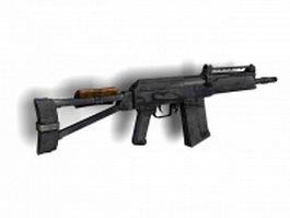 Saiga semi-automatic rifle 3d model