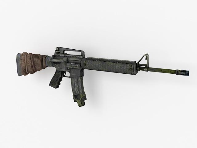M16A4 assault rifle 3d model 3ds Max,Autodesk FBX files ... M16a4 Assault Rifle