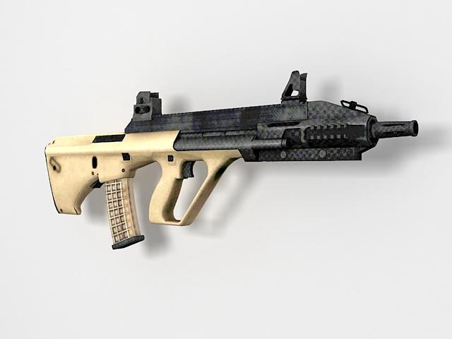 Steyr AUG assault rifle 3d rendering