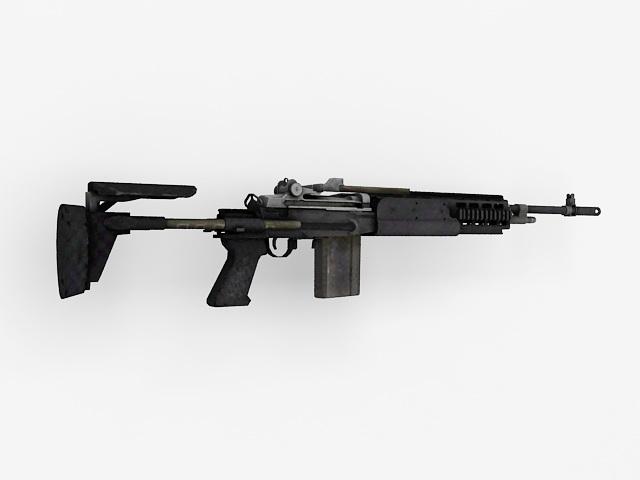 M14 EBR Rifle 3d model 3ds Max,Autodesk FBX files free ... M14 Ebr Rifle