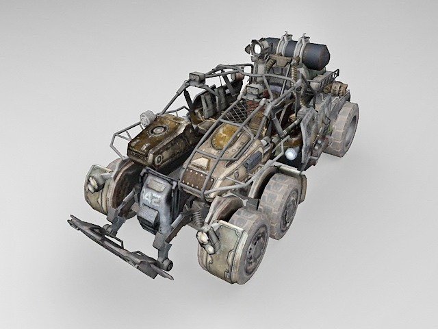 Sci Fi Fighting Vehicle Concept 3d Model 3ds Max Files