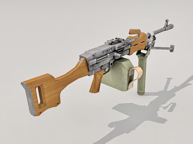 mounted machine gun