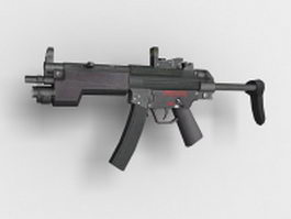 Heckler & Koch MP5 submachine gun 3d model