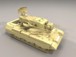 Flakpanzer Gepard anti-aircraft gun 3d model