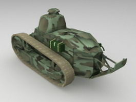 WW1 Renault FT-17 tank 3d model